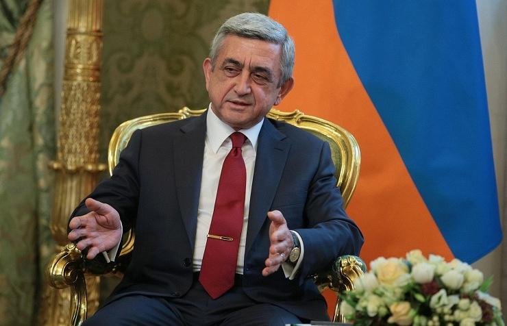 Armenia's President Serzh Sargsyan