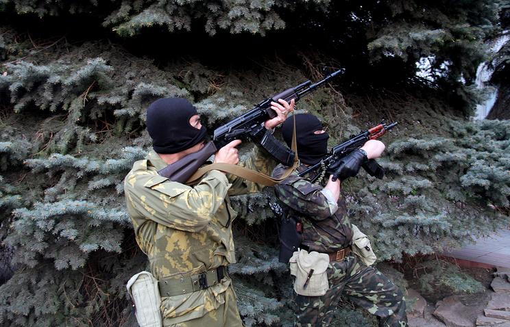Self-defense militia in Luhansk