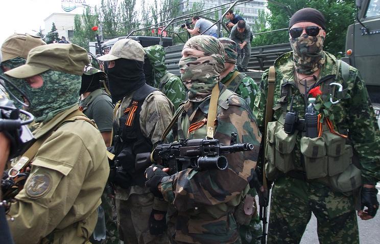 Militia fighters in east Ukraine (archive)