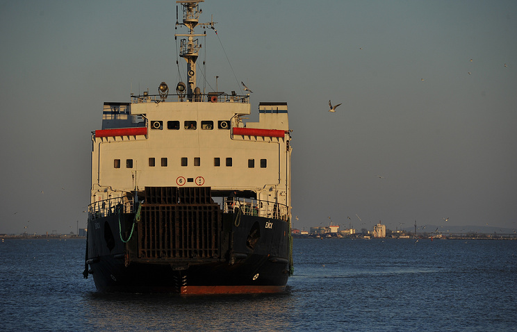 A ferry in the Kerch Strait