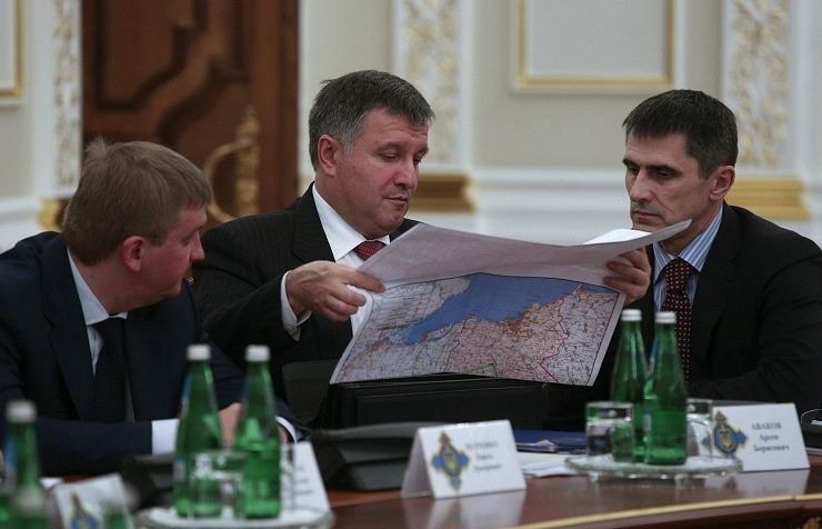 Arsen Avakov (in the center)