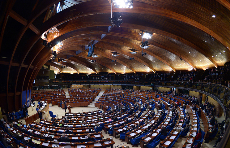 Parliamentary Assembly of the Council of Europe in session (archive)