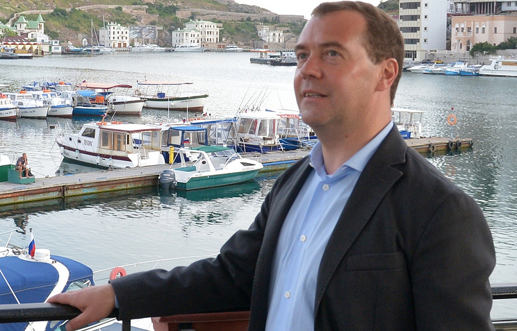 Dmitry Medvedev in Crimea, May 2014