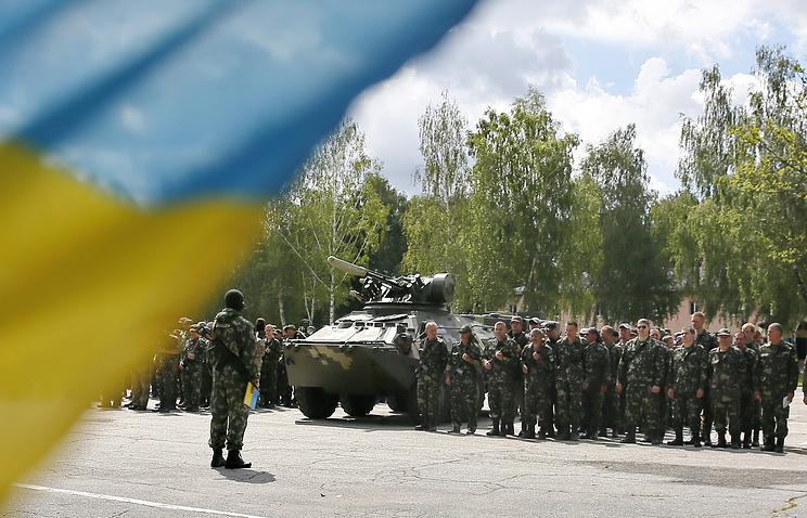 Ukrainian military in Kiev
