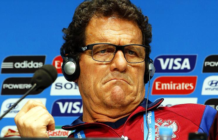 Russian national soccer team's Italian head coach Fabio Capello