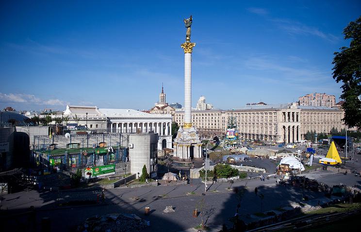 Independence Square (Maidan Nezalezhnosti) in Kiev