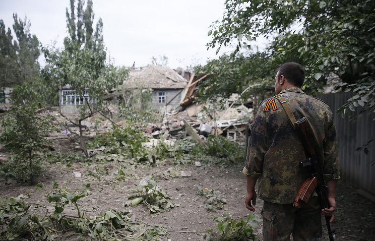 Consequences of airstrikes in Ukraine's Donetsk Region
