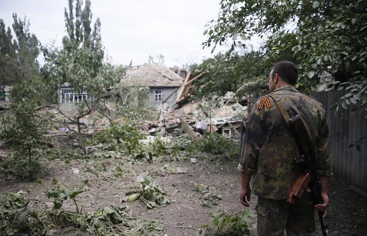 Consequences of airstrikes in Ukraine's Donetsk Region