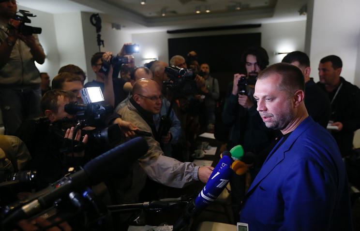 Prime Minister of the self-proclaimed Donetsk People's Republic Alexander Borodai