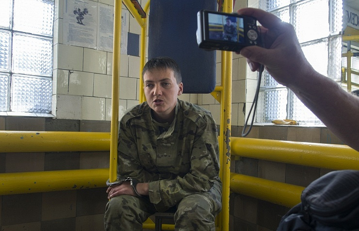 Ukrainian army officer Nadezhda Savchenko