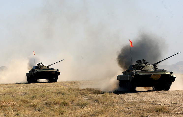 CSTO military drills at the Ala-Too firing range in 2013