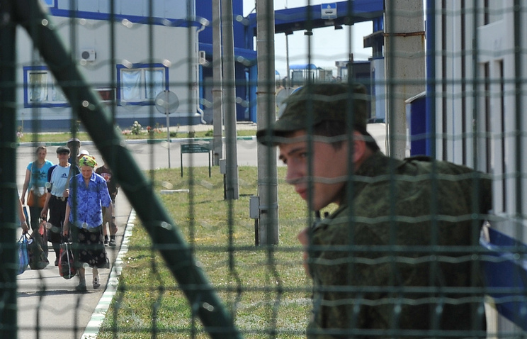 At a border checkpoint