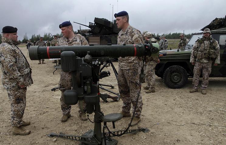 NATO military drills in Latvia, Jun. 2014