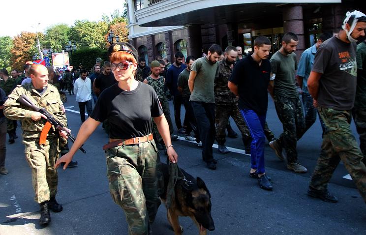 Prisoners of war in Donetsk