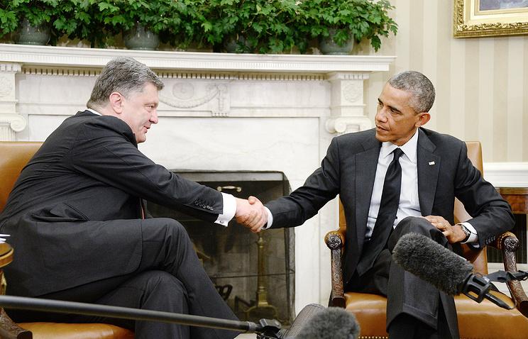 Petro Poroshenko and Barack Obama