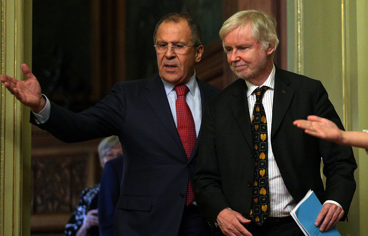 Sergey Lavrov and Erkki Tuomioja