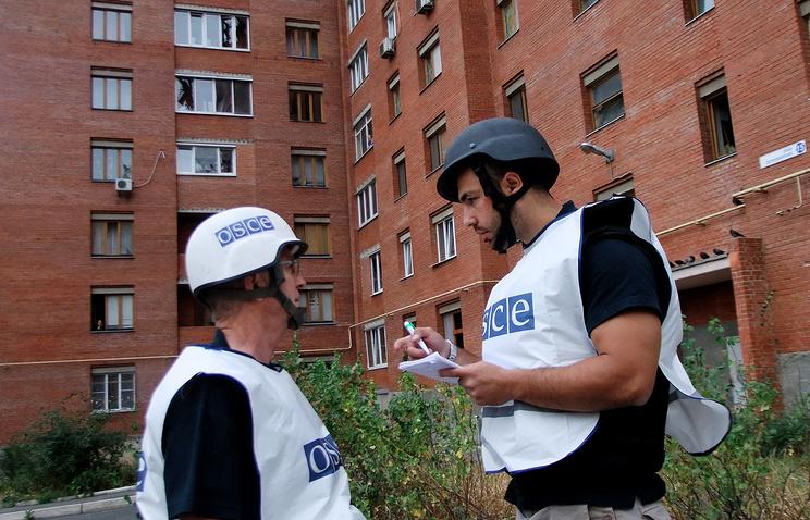 OSCE observers in Donetsk