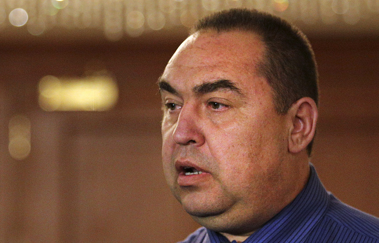 Self-proclaimed Luhansk People's Republic (LPR) head Igor Plotnitsky