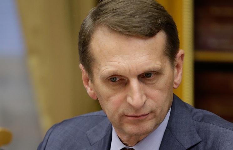 Russia's State Duma speaker Sergey Naryshkin