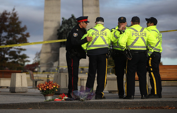 At the site of National War Memorial in Ottawa