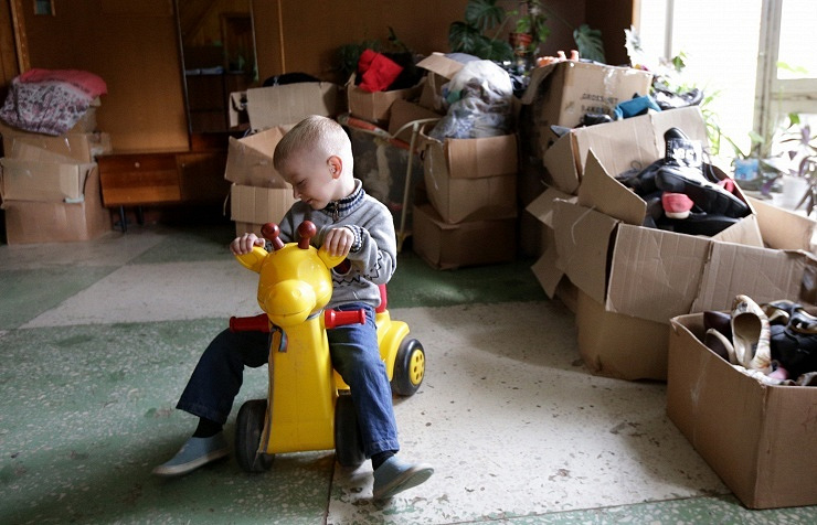 Temporary accommodation center for ukrainian refugees in Moscow Region