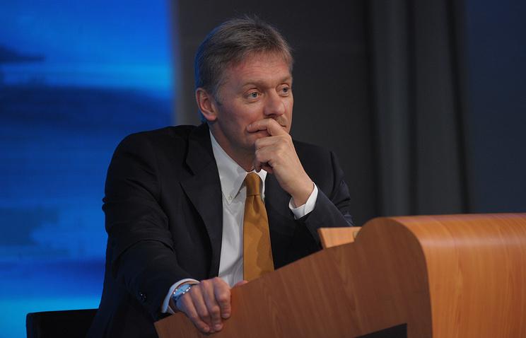 Presidential press secretary Dmitry Peskov