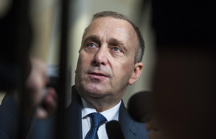 Polish Foreign Minister Grzegorz Schetyna