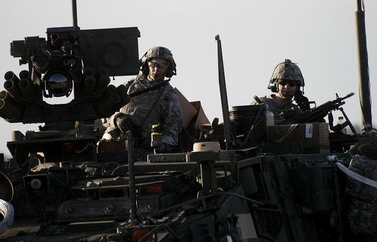 US soldiers seen dirung NATO drill is the Baltic (archive)