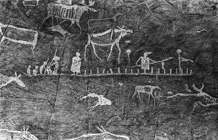 Ancient cave paintings in Siberia