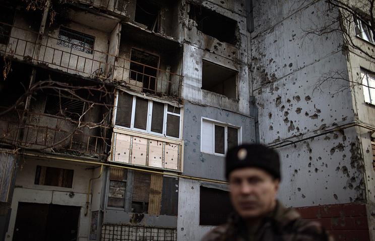 Aftermath shelling in Luhansk region