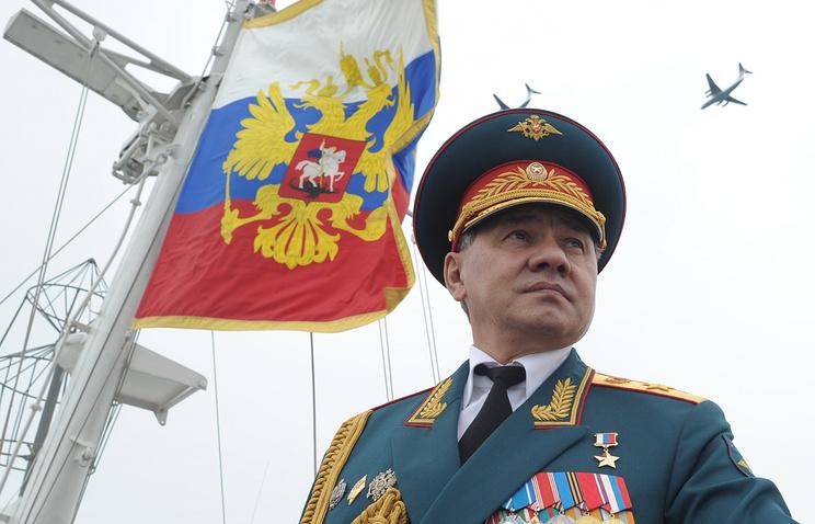 Defense Minister Sergey Shoigu