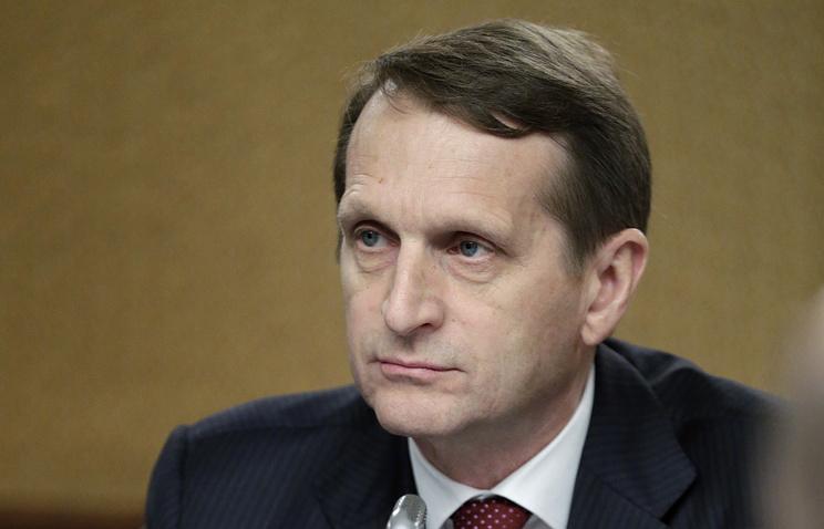 Russian State Duma Sergey Naryshkin