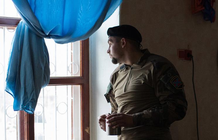 Militiaman in Eastern Ukraine