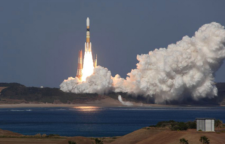 Launch of H-IIB rocket from Tanegashima Space Center (archive)