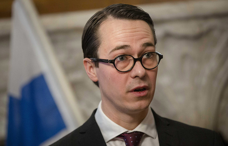 Finland's Minister of Defense Carl Haglund