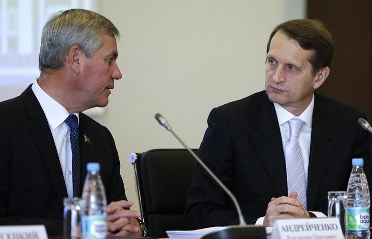 Vladimir Andreichenko (L) and Sergey Naryshkin (R)