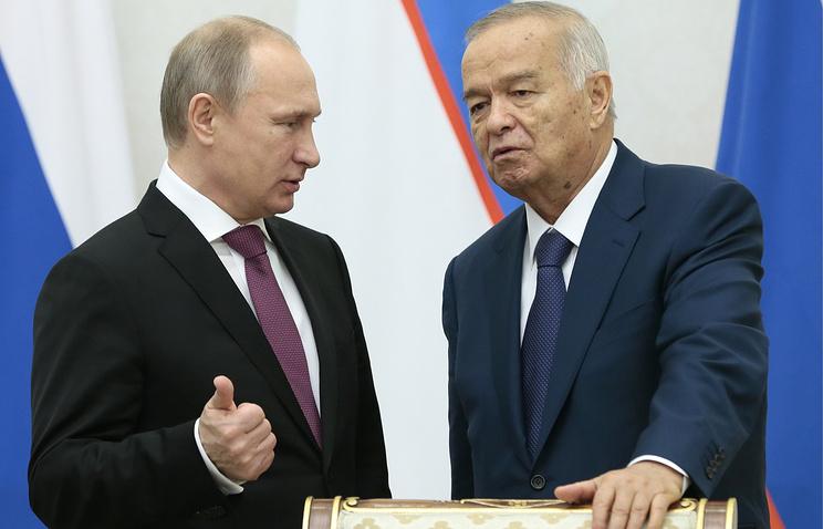 Islam Karimov and Vladimir Putin