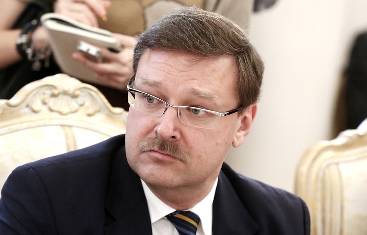 Head of the Federation Council's international affairs committee, Konstantin Kosachev