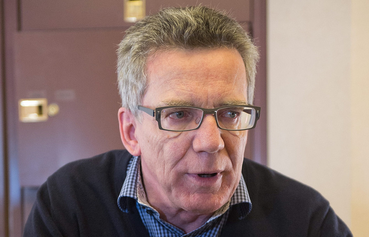 Germany's Interior Minister Thomas de Maiziere
