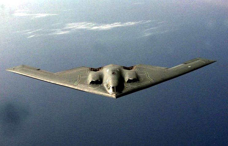 A B-2 Spirit stealth bomber
