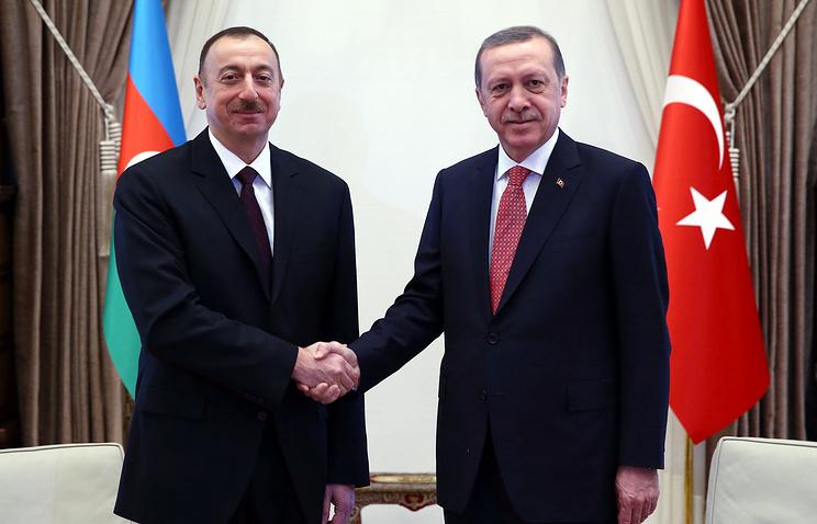 President of Azerbaijan Ilham Aliyev and Turkish president Recep Tayyip Erdogan