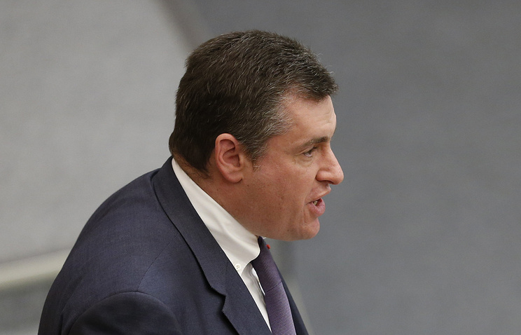 Russian deputy head of Russia's delegation Leonid Slutsky