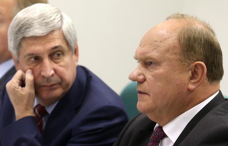 Ivan Melnikov and Gennady Zyuganov