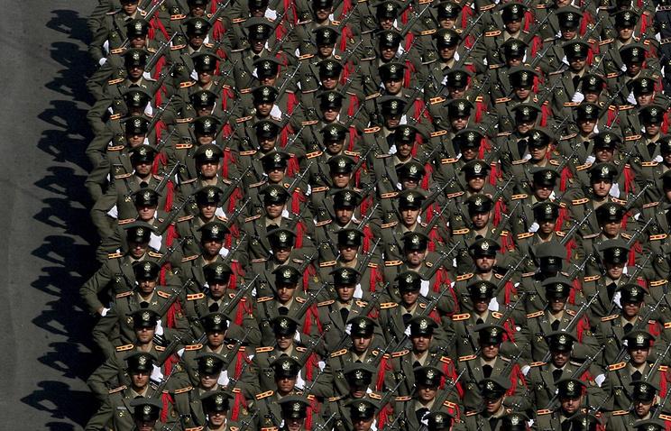 Iranian army cadets