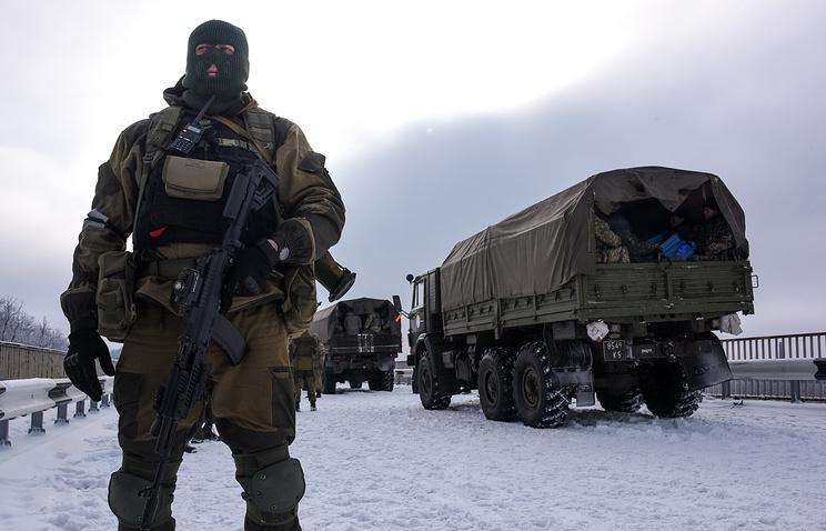 Militia fighter in eastern Ukraine