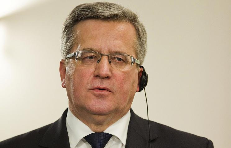 Polish President Bronislaw Komorowski