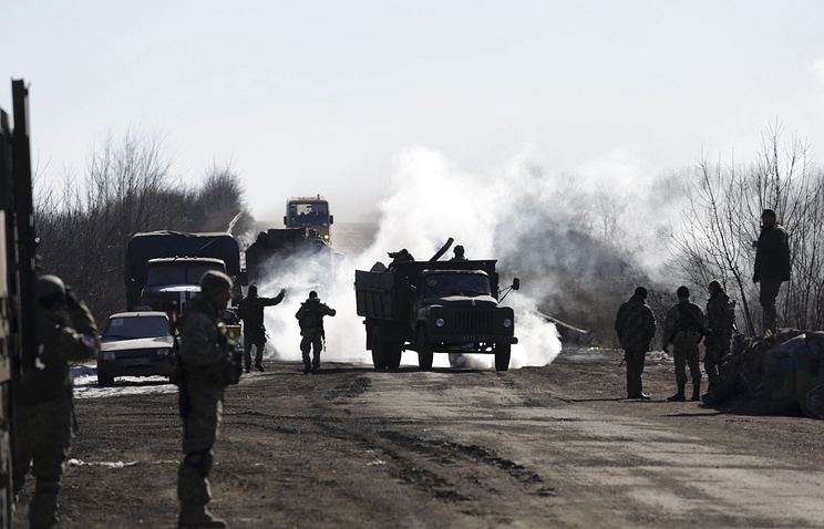 Ukrainian military in the conflict zone