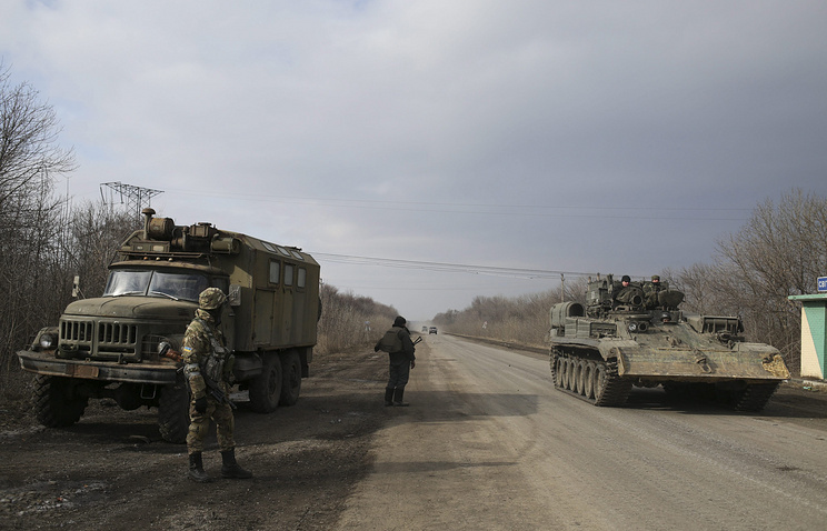 Ukrainian servicemen in Donetsk area, eastern Ukraine