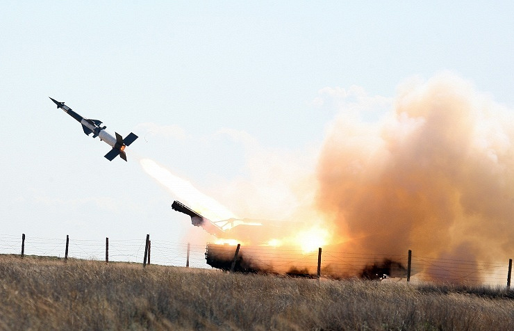 Pantsir-S1 being fired (archive)