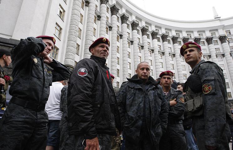 National Guard servicemen in Kiev (archive)